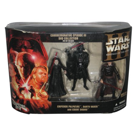 - Star Wars Commemorative DVD Collection 3-Pack - (Emperor Palpatine / Count Dooku / Darth Vader)
