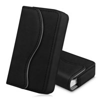 Business Card Holder / Credit Card Wallet, Fintie Premium PU Leather Card Case Organizer with Magnetic Closure, Black