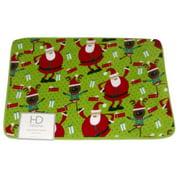 HD Designs Plush Memory Foam Santa & Reindeer Bath Mat Skid Resistant Throw Rug