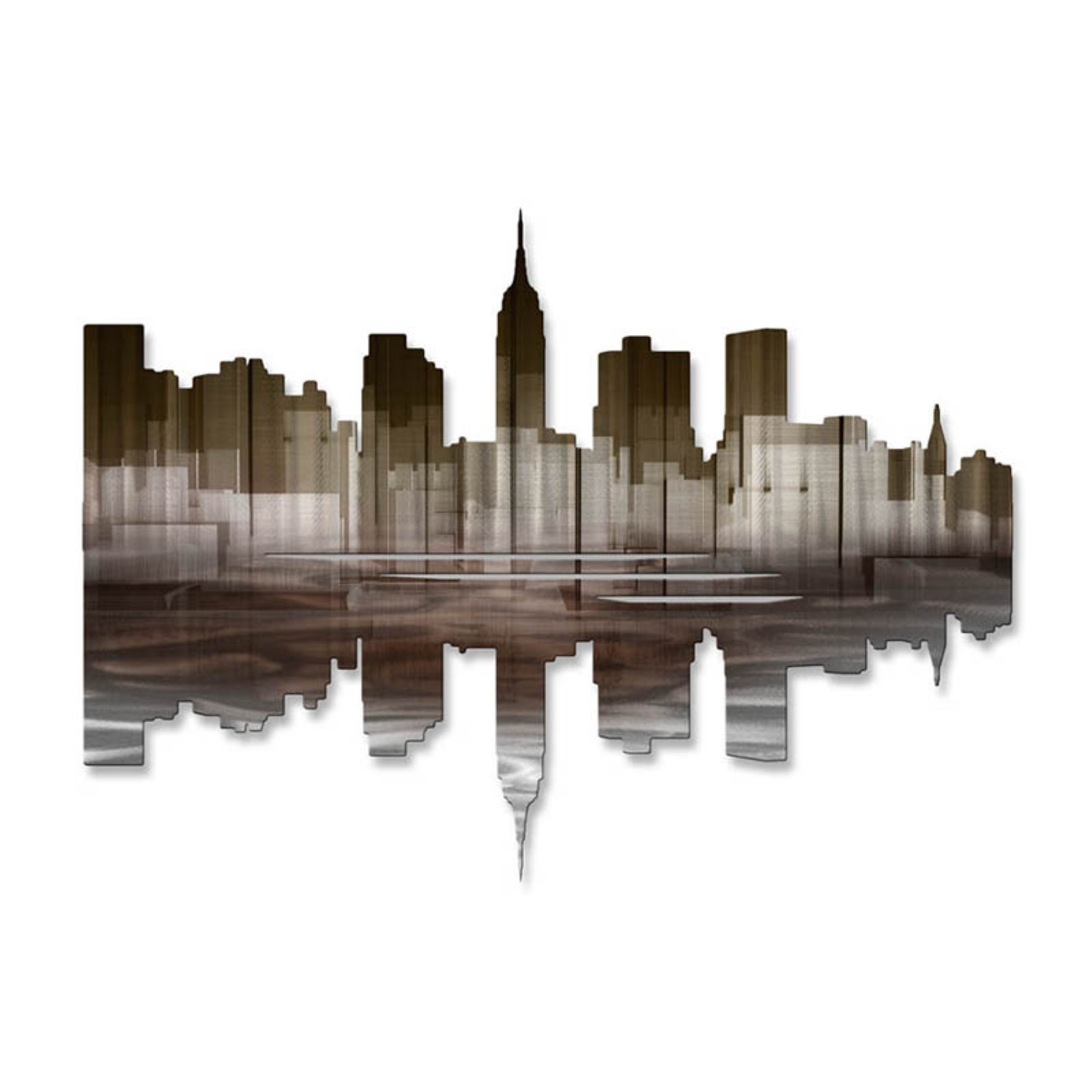 New York City Reflection III Metal Wall Art - 30W x 22H in.