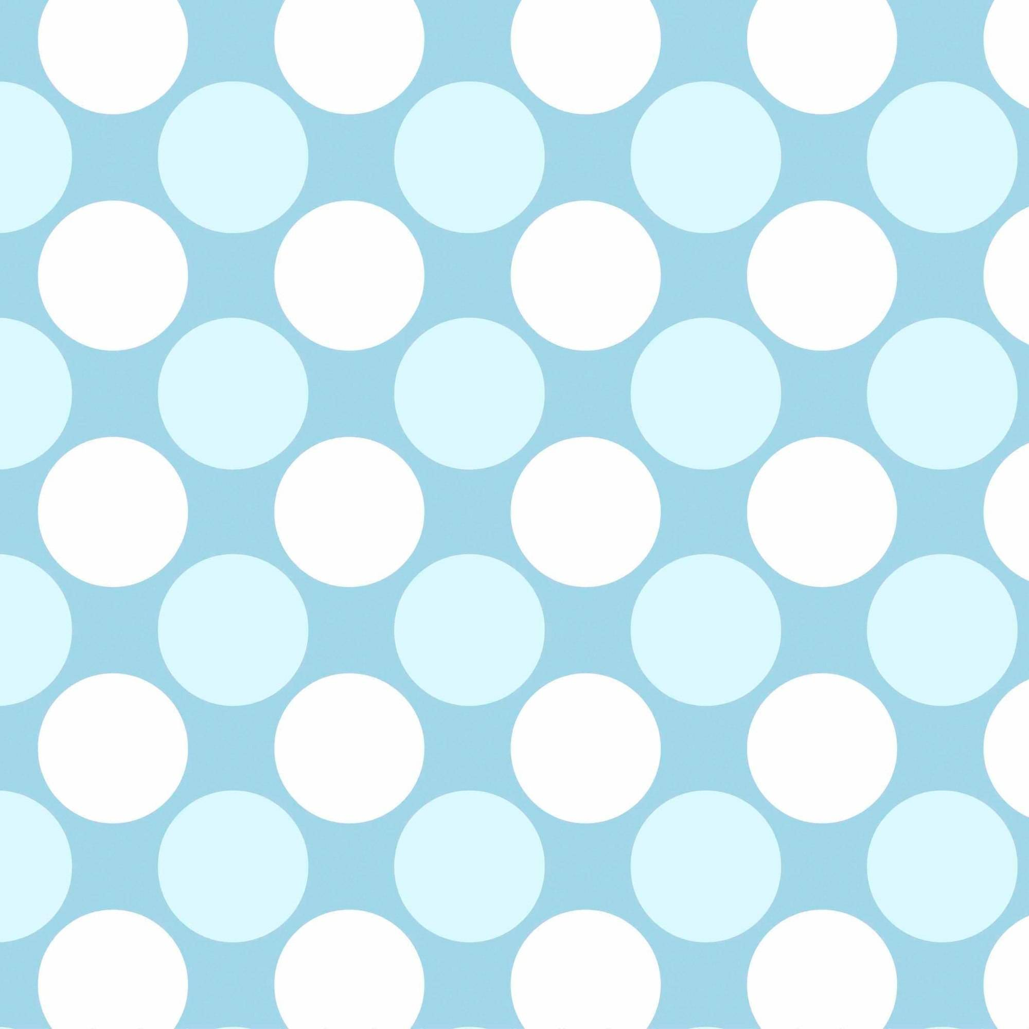 """Dots Blue Anti-Pill Polyester Fleece Fabric By The Yard, 60"""" Wide"""