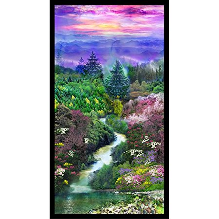 Quilt Fabric Panel - Mountain View Panel 24
