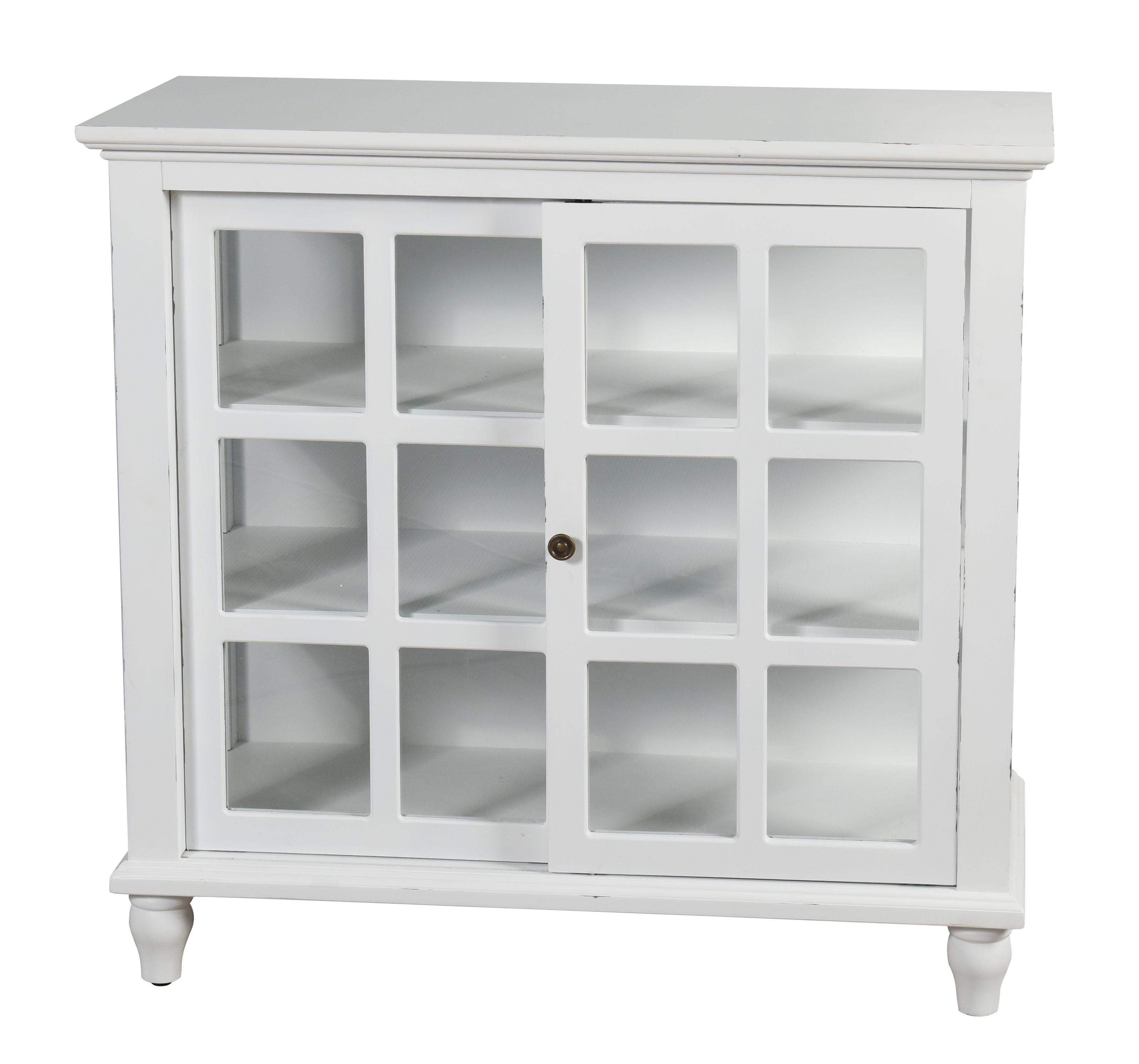 StyleCraft - Archer Ridge Sliding Door Cabinet - Distressed White
