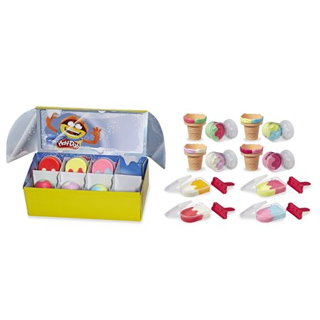Play-Doh Ice Pops n Cones Freezer Plus Pack with 8 Cans (24 oz)