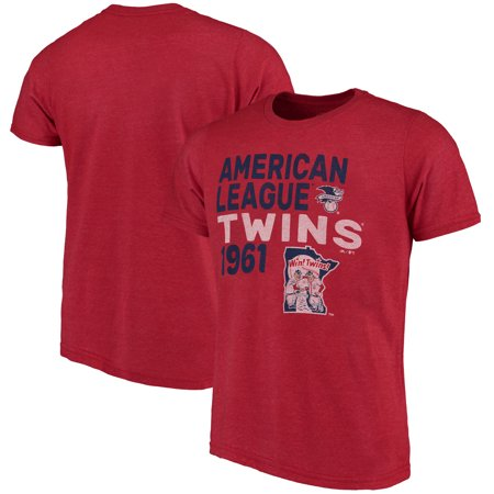 Minnesota Twins Majestic Threads Throwback Cooperstown Collection Tri-Blend T-Shirt - Red - Throwback Clothes Ideas