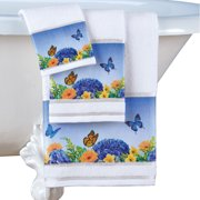 Luxury Butterfly Towels, Hotel Quality Style - Set of 3 - for Bathroom, Spa, Travel
