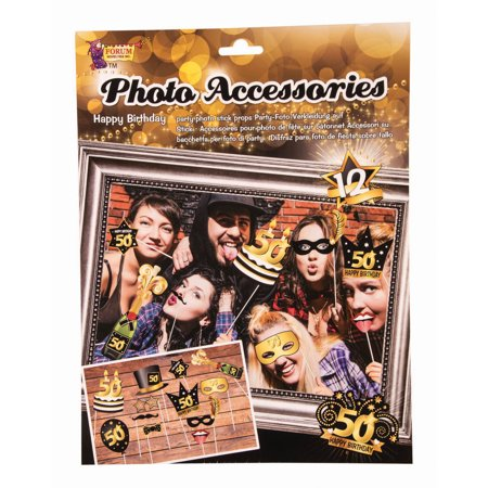 50th Birthday Photo Booth Accessories (Photo Booth Accessories)