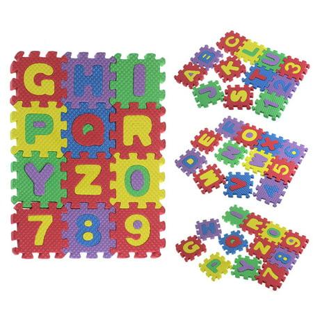 36pcs baby child number alphabet puzzle foam maths education