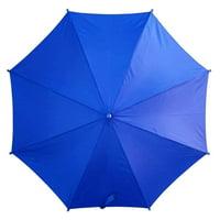 "PMU Beach Umbrella 6ft Opens to 74"" Dark Blue Stripes Nylon Top w/ Silver Lining Blocking 98% UVA and UVB Rays Pkg/1"