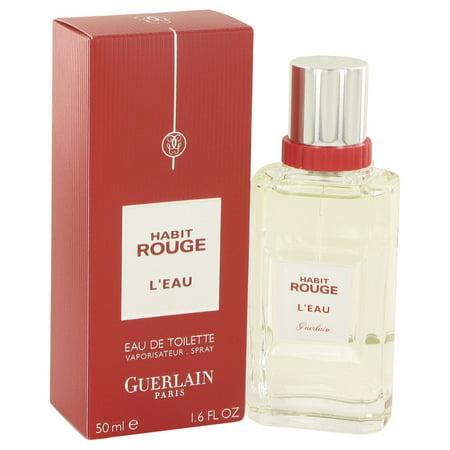 Guerlain Habit Rouge L'eau Eau De Toilette Spray for Men 1.6 oz - Guerlain Habit Rouge Eau De Toilette Spray