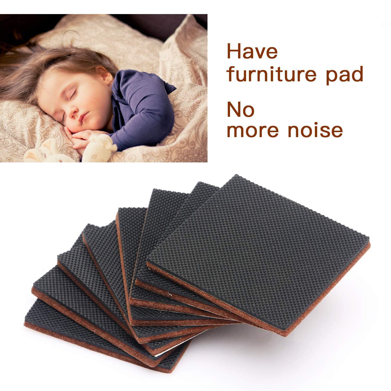 Furniture Pads 12 Pcs 3 Hn Stg Non Slip Premium Furniture Gripper Best Self Adhesive Square Rubber Pad Chair Leg Hardwood Floor Protector Sofa Anti Slip For Fix In Place Furniture Bed