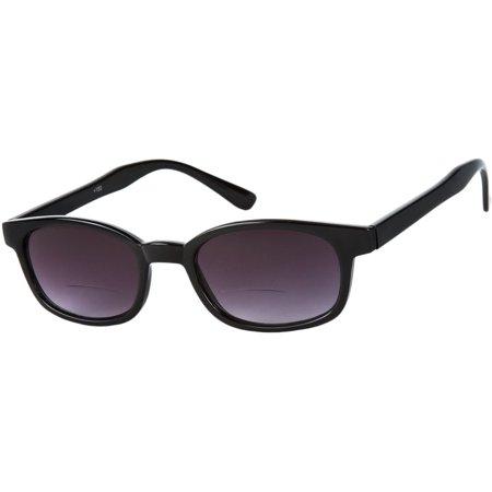348001d42f9 Readers.com The Agent Bifocal Sun Reader Retro-Inspired Bifocal Sun with UV  Lenses Retro Square Reading Glasses - Walmart.com