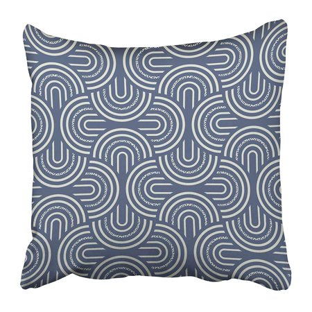 ECCOT Blue Arch Abstract Striped Petals Retro Artistic Creative Curved Elegance Flex Pillowcase Pillow Cover 20x20 inch