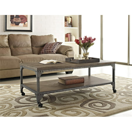 Altra Cecil   Altra Cecil Wood Veneer Coffee Table   Rustic    Coffee   Best For Winter All Season