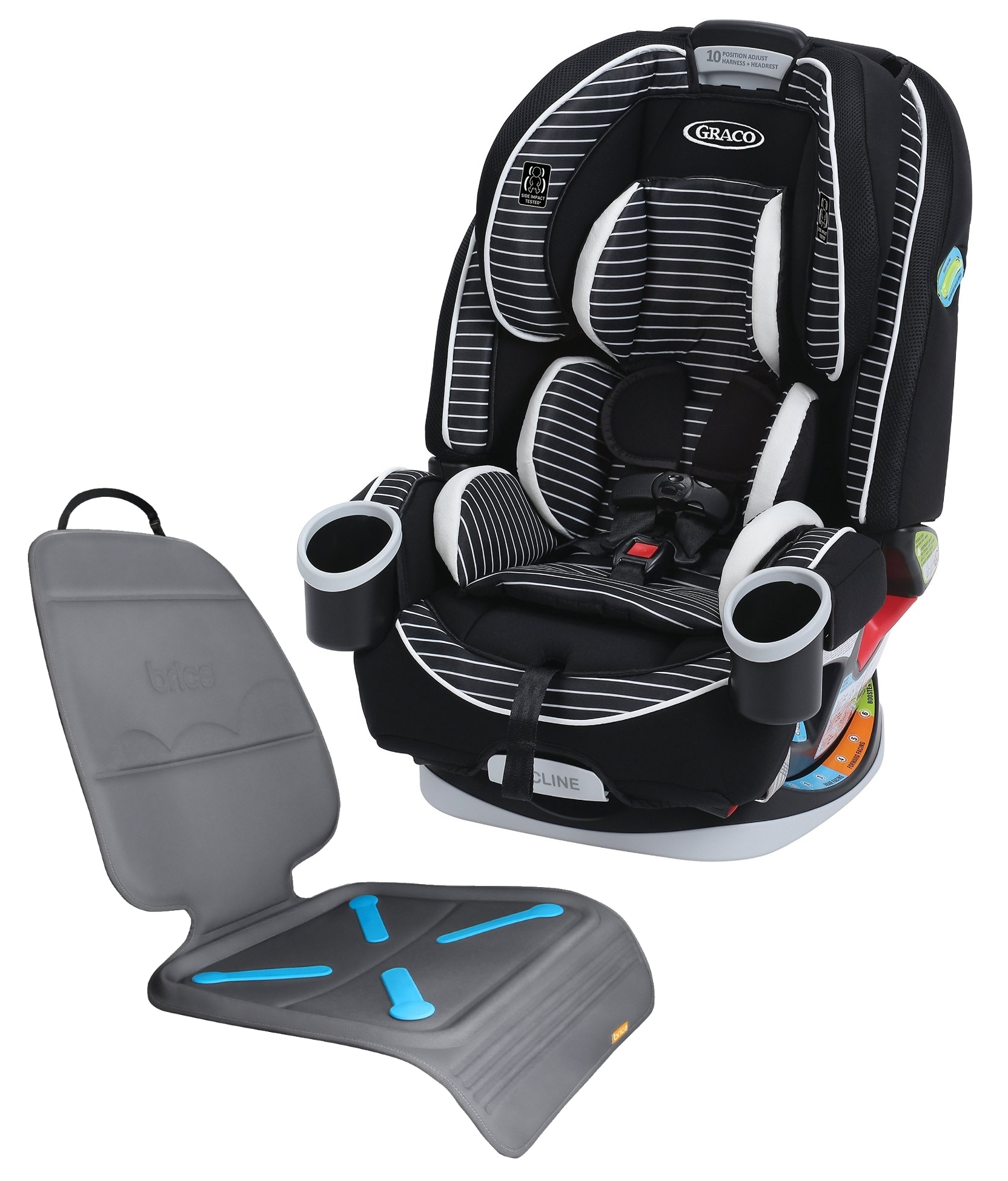 Graco 4Ever All-In-One Convertible Car Seat with Seat Protector, Studio by Graco
