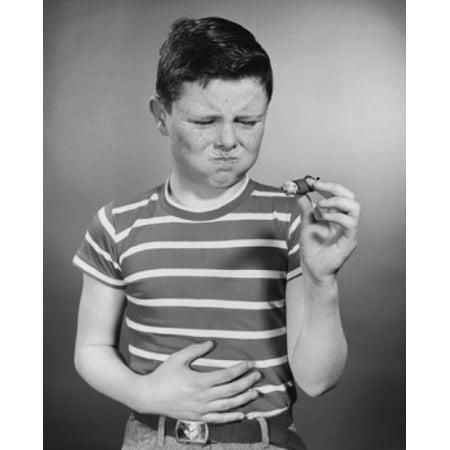 Boy holding cigar Poster Print](Its A Boy Cigars)