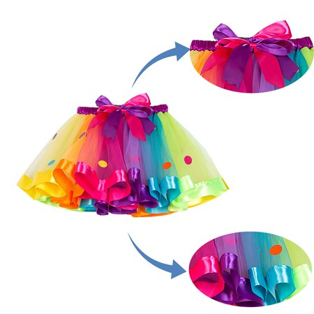 Ustyle Baby Girls Tutu Skirt Mesh Dancing Party Clothing Skirt Kids Photography Prop - image 8 de 9