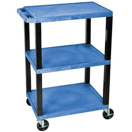 Walmart Utility Shelves Best H Wilson Tuffy 60Shelf Utility Cart Blue Shelves And Black Legs