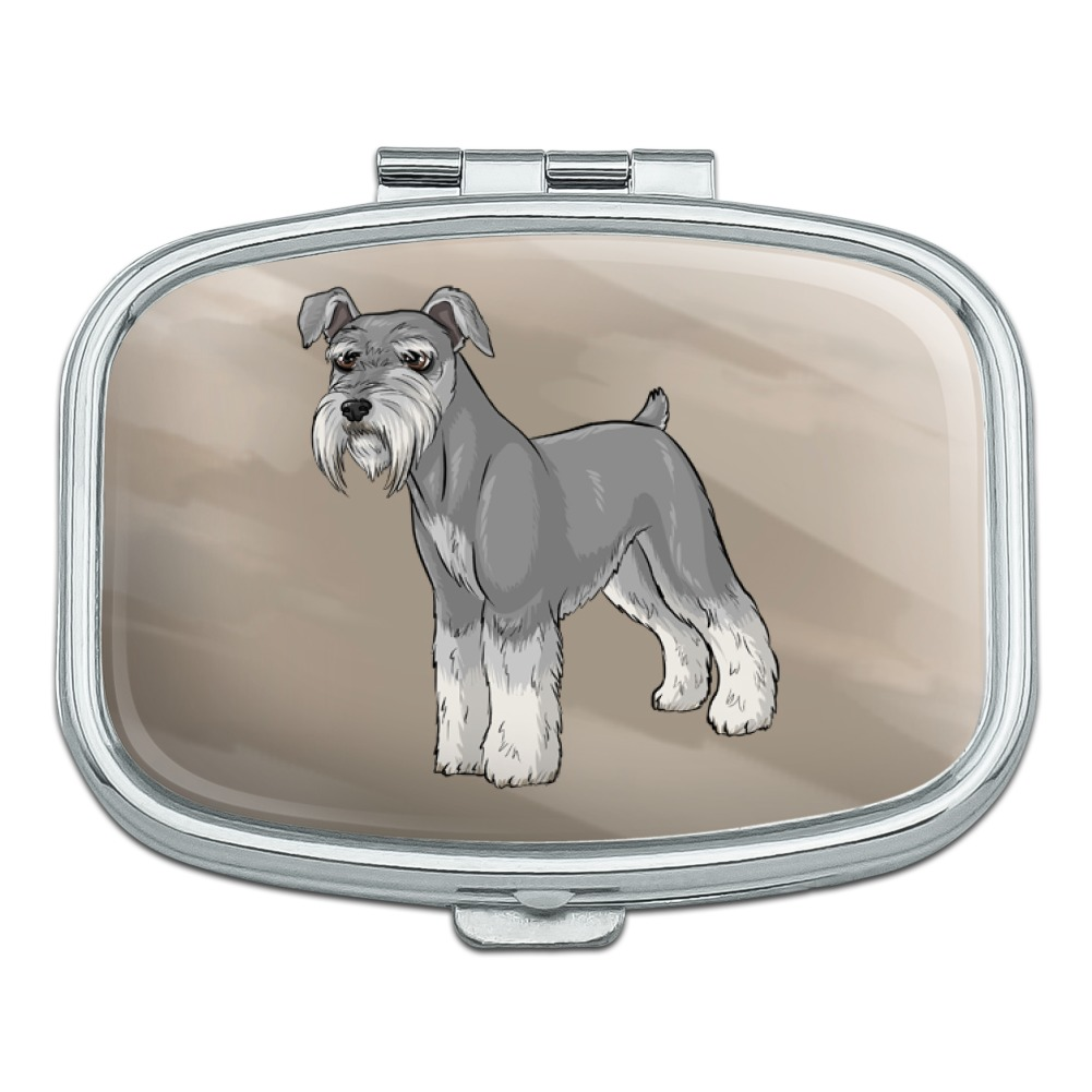 Miniature Schnauzer Dog Rectangle Pill Case Trinket Gift Box