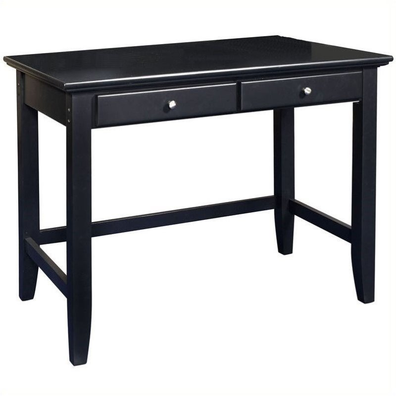 Hawthorne Collections Wood Laptop Writing Desk in Ebony