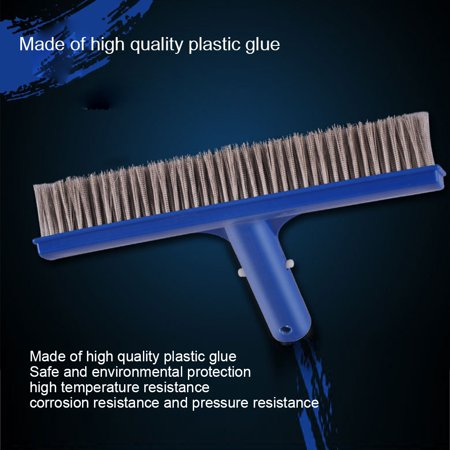Homeholiday 10 inch Steel Wire Swimming Pool Brush Moss Algae Cleaning Tool Wide Pond Spa Hot Spring Pools Cleaner Brush - image 3 de 8