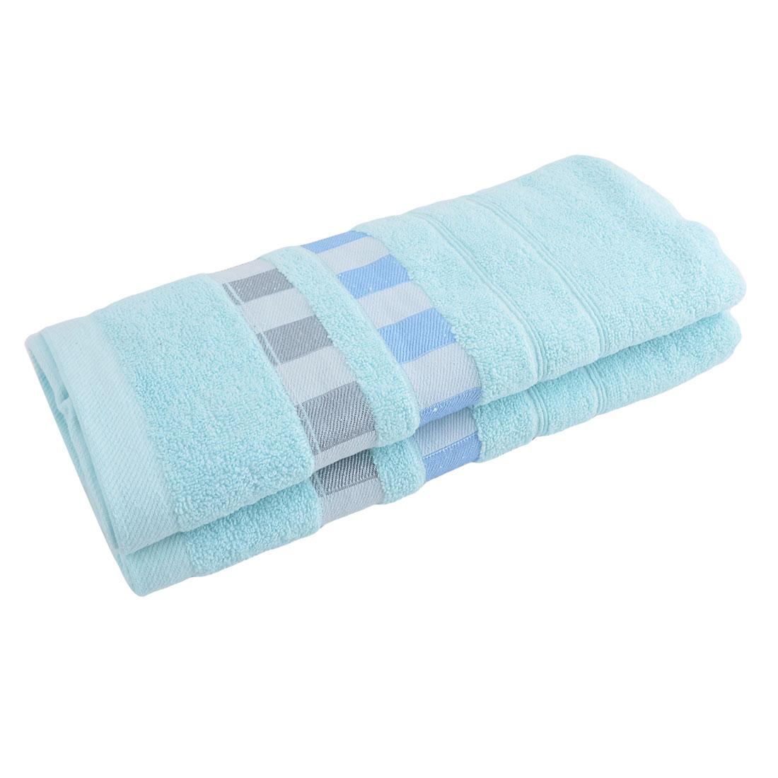 KUTTO Authorized Home Hotel Cotton Blends Dry Bath Towel Sky Blue 140 x 70cm - image 4 de 4