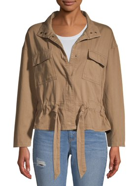 Time and Tru Women's Cinched Utility Jacket