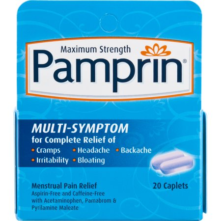 Pamprin Maximum Strength Multi-Symptom Menstrual Pain Relief Caplets 20 ct ()