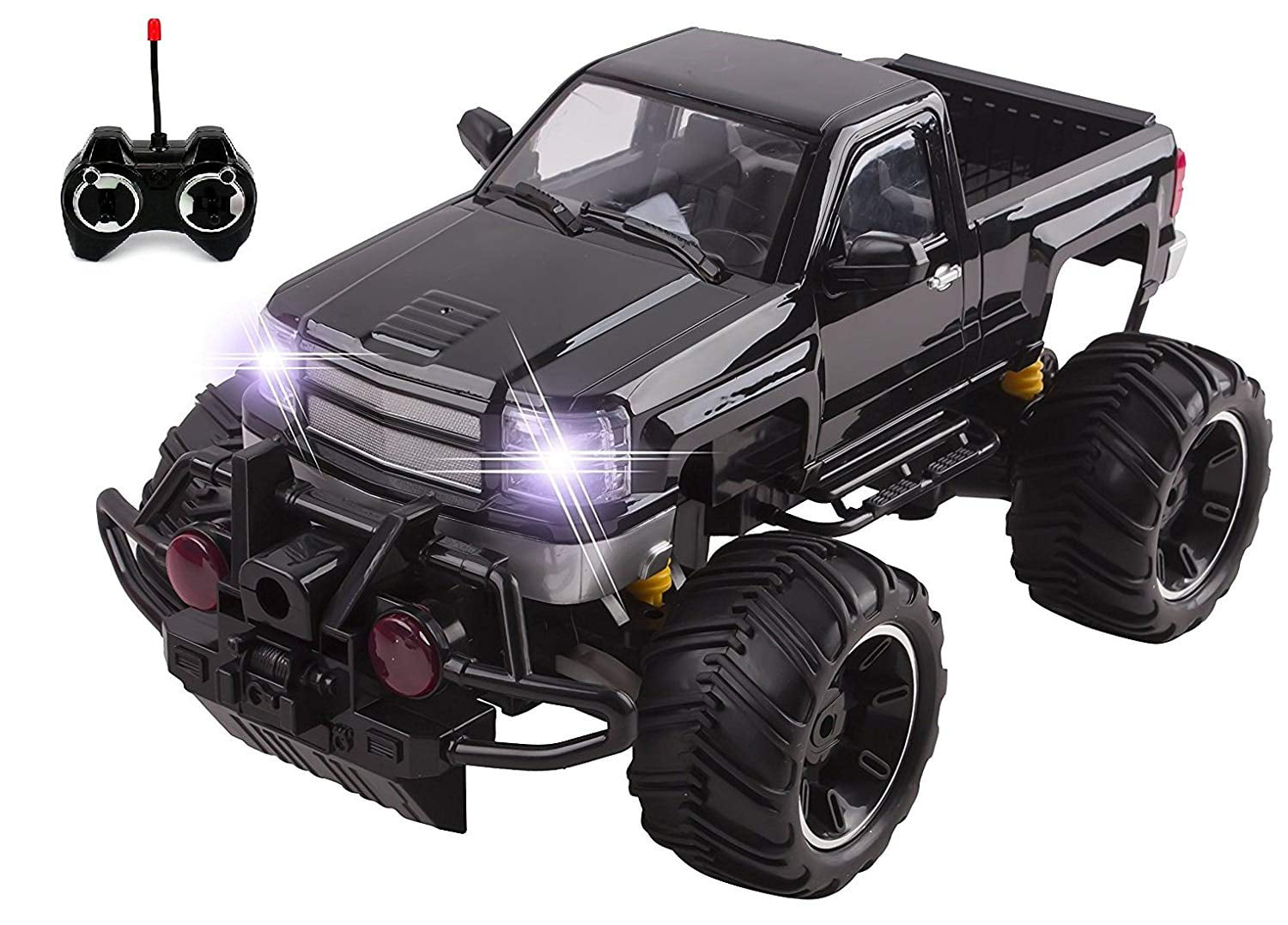 Big Wheel Beast RC Monster Truck Remote Control Doors Opening Car Light Up With LED Headlights Ready to Run... by Vokodo