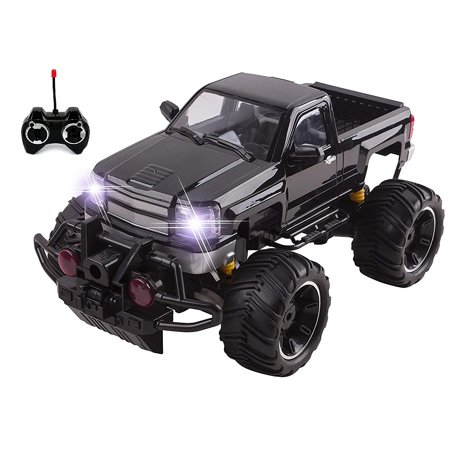 Big Wheel Beast RC Monster Truck Remote Control Doors Opening Car Light Up With LED Headlights Ready to Run INCLUDES RECHARGEABLE BATTERY 1:14 Size Off-Road Pick Up Buggy Toy