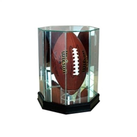 7f1acbdb Perfect Cases FBUP-C Upright Octagon Football Display Case, Cherry