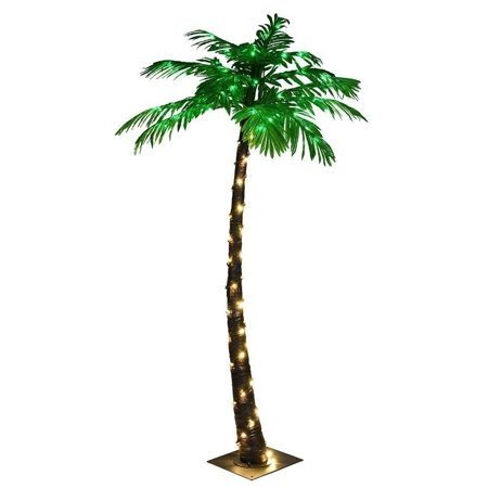 Lightshare Palm Tree with Warm White Lights, 5 ft., For Summer and Nativity