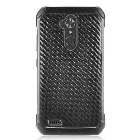Insten Carbon Fiber Hybrid Hard Protective Case for ZTE Blade Max 3 / Max XL N9560 - Black