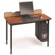 Quattro Voltea Adjustable Flip Top Computer Table - 48 in. (Cherry & Black)