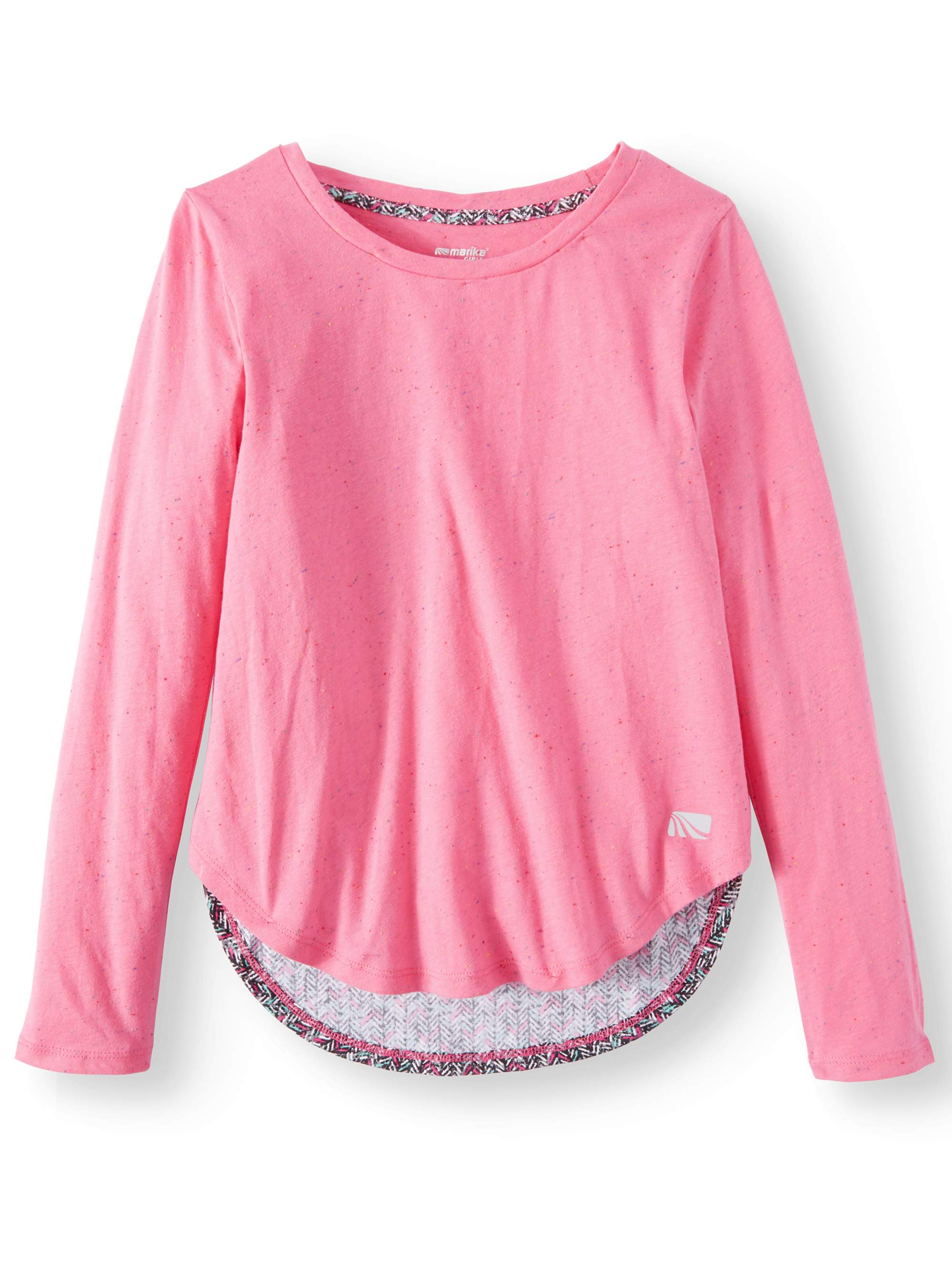 Performance Herringbone Inset Top (Little Girls & Big Girls)