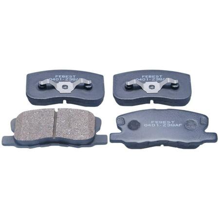 Febest 0401-Z39AF PAD KIT DISC BRAKE FRONT, MITSUBISHI COLT Z32A/Z34A/Z36A/Z37A/Z38A/Z39A 2004-2012,  OEM MN116151