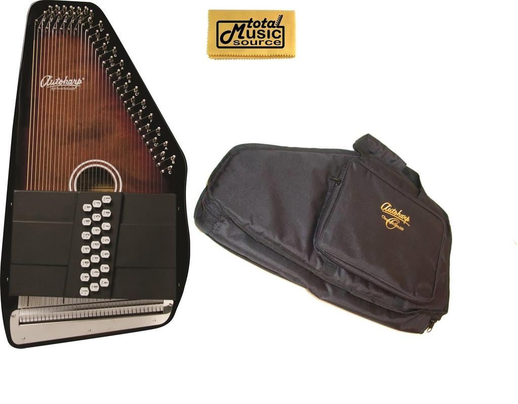 Oscar Schmidt 21 Chord 11 Key A E Autoharp w  Gig Bag, Select Maple, OS21CE-AC445 by Oscar Schmidt
