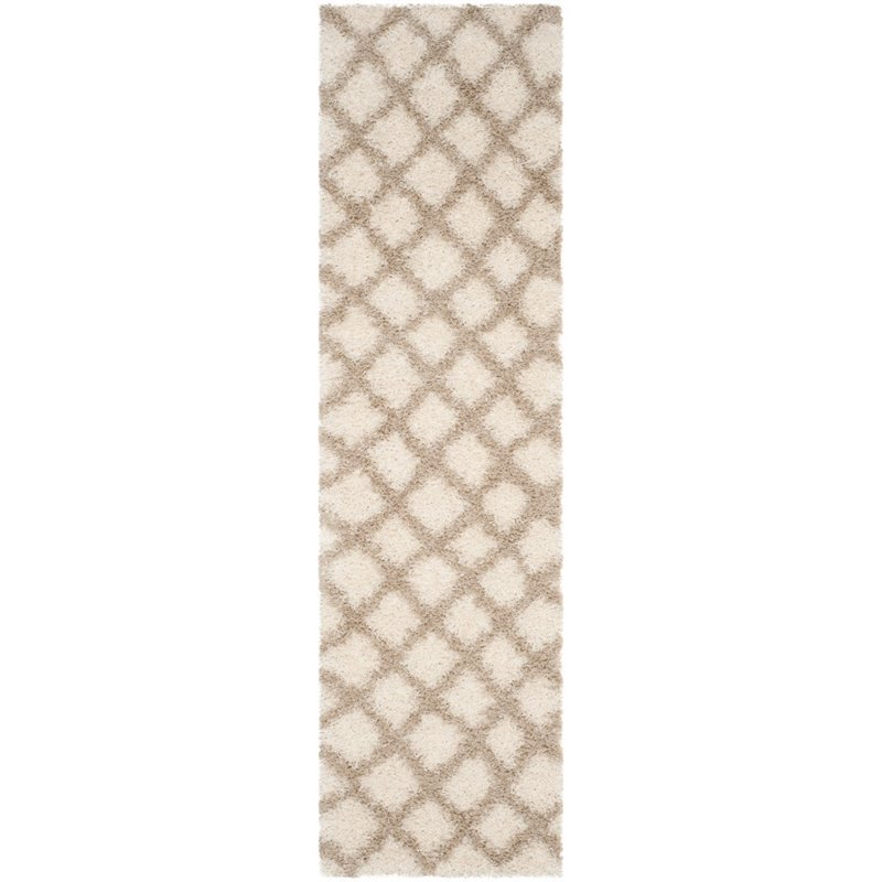 Safavieh Dallas Shag 4' X 6' Power Loomed Rug in Ivory and Beige - image 5 of 5