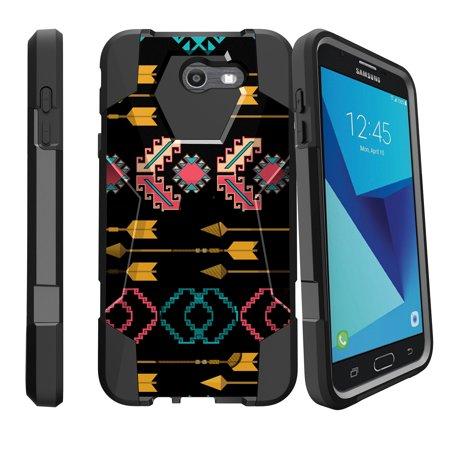 Case for Samsung Galaxy J7 PRO | J7-V 2017 | SKY PRO [ Shock Fusion ] Hybrid Layers and Kickstand Case Tribal