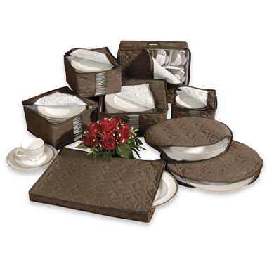 Richards Homewares Tabletop Micro Fiber 8-Piece Dinnerware Storage Set by Richards Homewares