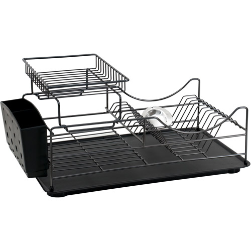 Better Homes and Garden Dish Rack, Black Chrome