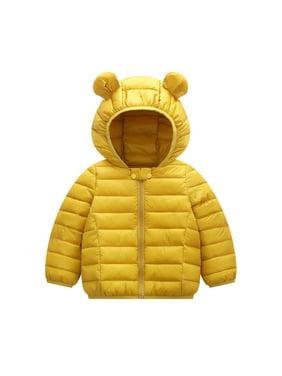 Winter Children Kid Toddler Boy Girl Warm Hooded Jacket Coat Cute Ear Hat Parka Overcoat Thick Down Coat for 1-6T