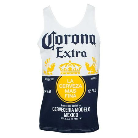 Corona Extra Bottle Label Men's Tank Top
