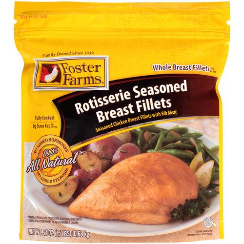 Foster Farms Rotisserie Seasoned Breast Fillets, 24 oz