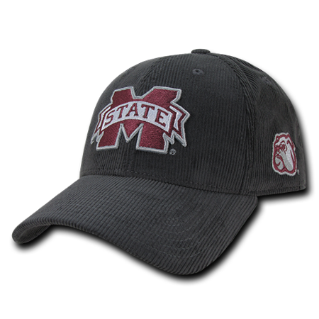 NCAA MSU Mississippi State U Bulldogs Structured Corduroy Baseball Caps Hats - Msu Bulldogs