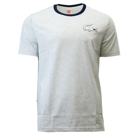 Lacoste L!VE Crew Neck Jersey Casual Fashion Tee T-Shirt - Mens