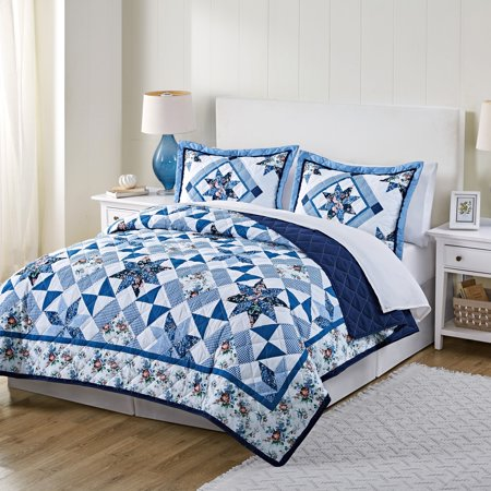 - Mainstays Classic Claires Rose Patterned Quilt