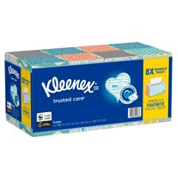 1,520 Count,Kleenex Trusted Care Everyday Facial Tissues, 190 ct./8 pk.