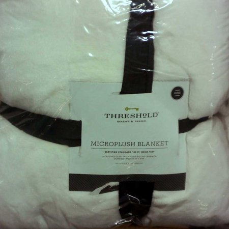King Microplush Bed Blanket Sour Cream - Threshold™