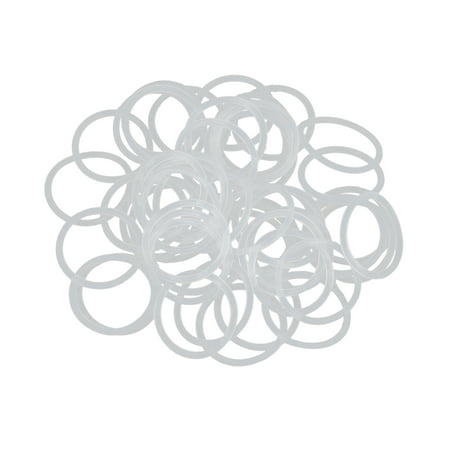 50pcs White Silicone Rubber O-Ring Seal Gasket Washer 18 x 1.5mm for Car - image 3 of 3